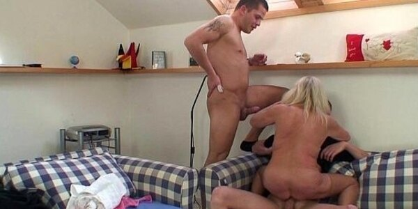 riding grandmother sucking another cock