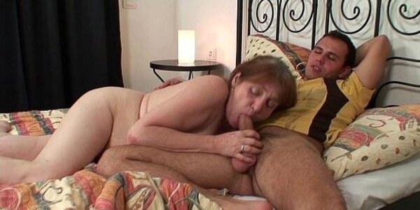 old grandma is healed with power of his cock