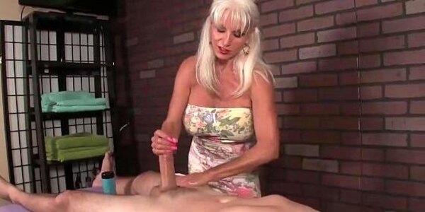 huge titted granny handjob