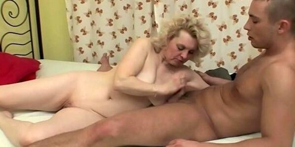 two russian studs fucks old milf