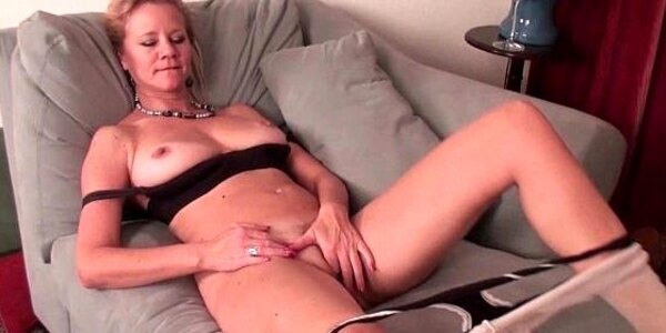 mom receives aroused easily in her sheer nylons