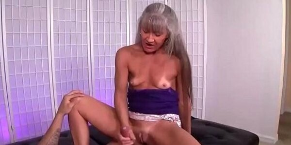 ov40 mature slut jerking a young man