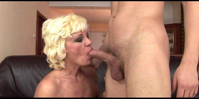 hairy granny seduces young boy