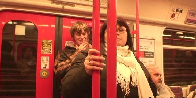 horny dude hooks up busty mature chick in metro