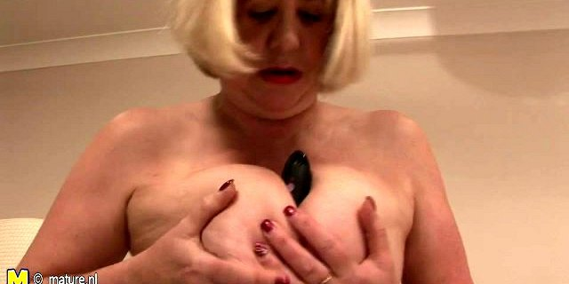 big breasted granny and her wet pussy