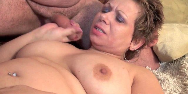 chubby old mom with big tits sucks cock