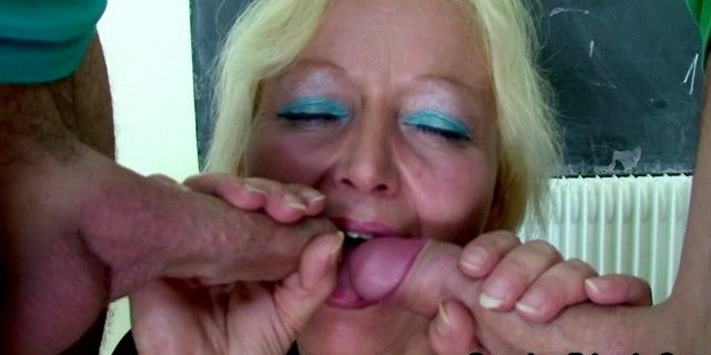 granny teacher double penetration