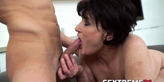 cute granny loves being smashed doggy style by her fucker
