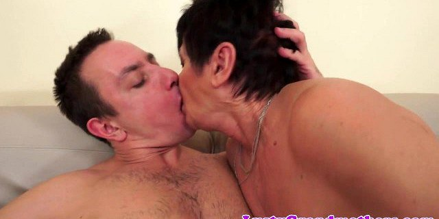 bigass granny rides cock and gets creampied