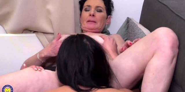 granny gets ass licking from sexy girl