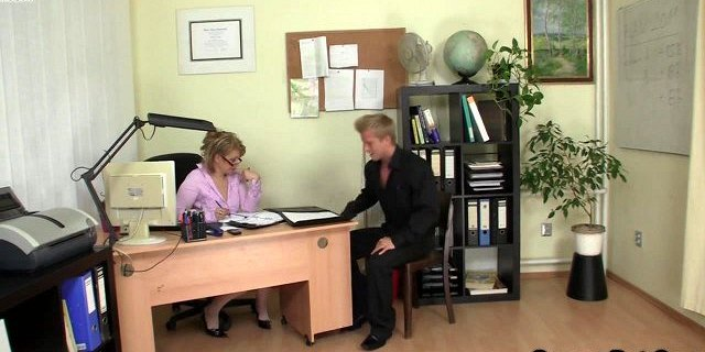 office sex with nice mature woman