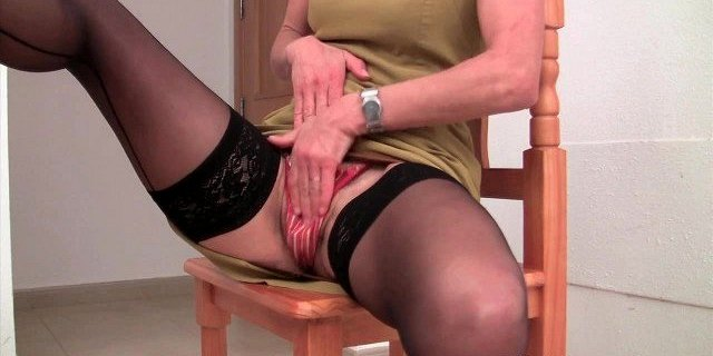hairy granny emanuelle in black stockings