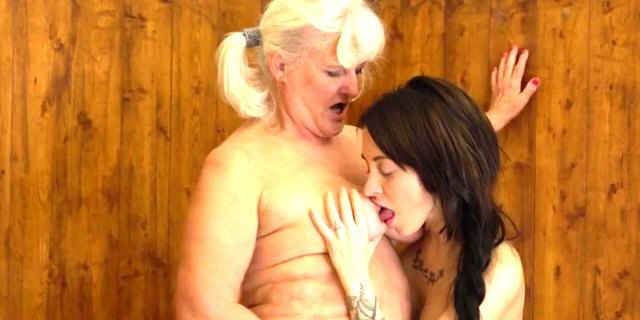 big old granny seduce young dirty girl in bath