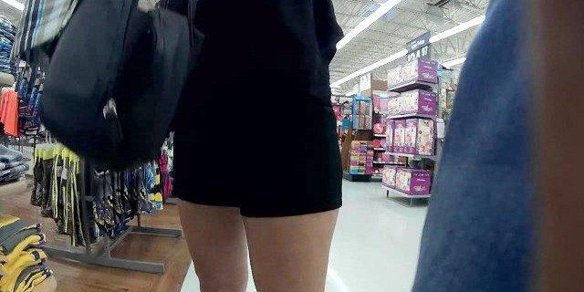 latina granny high heels short shorts playtime