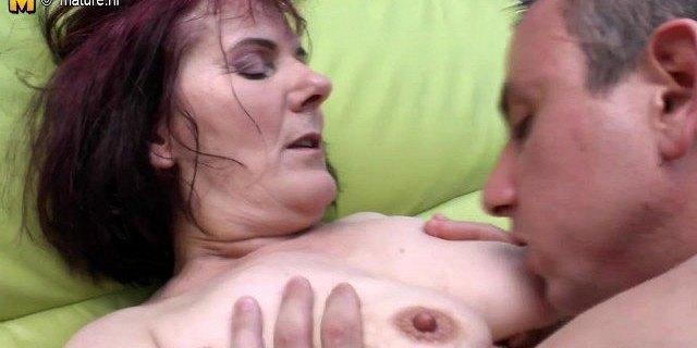 old granny slut fucked by young boy