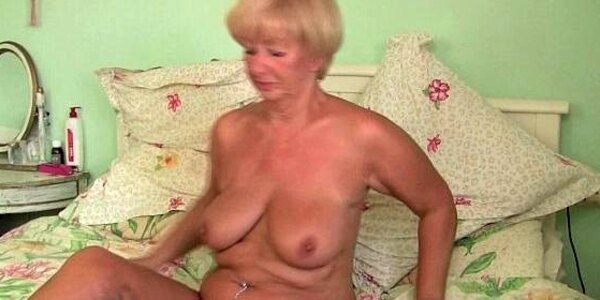 british grandma samantha lubes up her old pussy and gets finger fucked